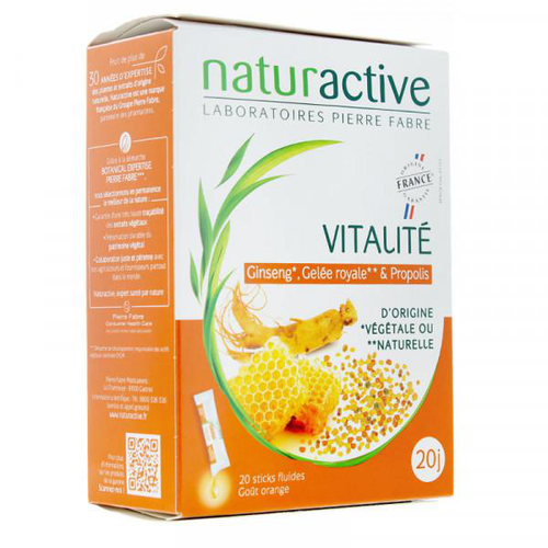 Image VITALITE 20 STICKS FLUIDES GOÛT ORANGE