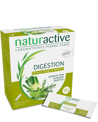 Image DIGESTION 20 STICKS FLUIDES GOÛT CITRON